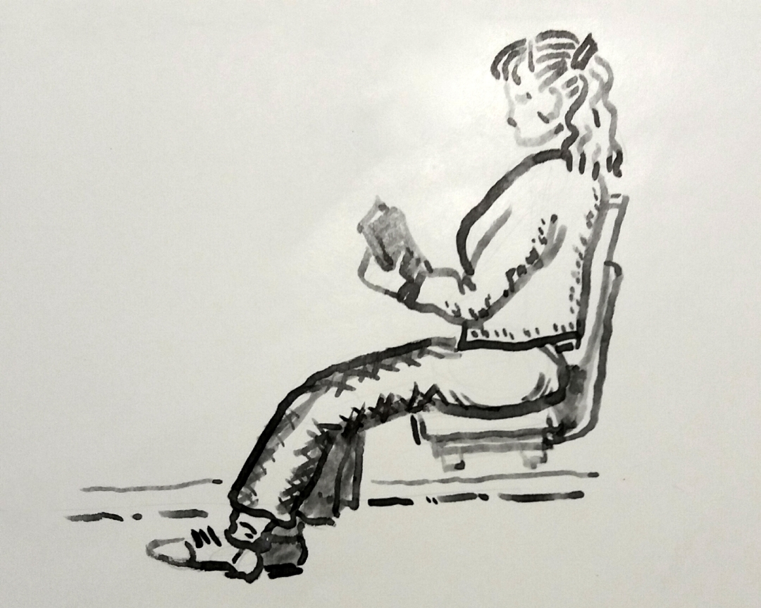 seated reader