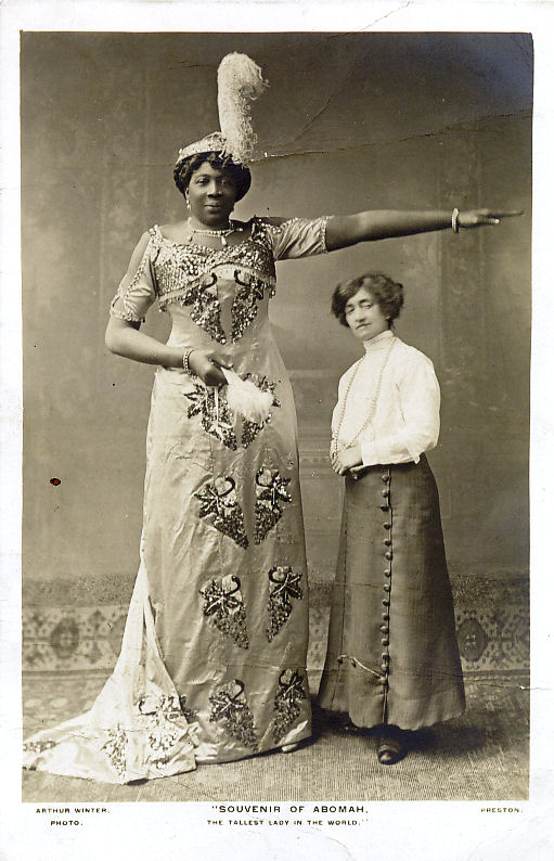 Abomah, the tallest lady in the world.
