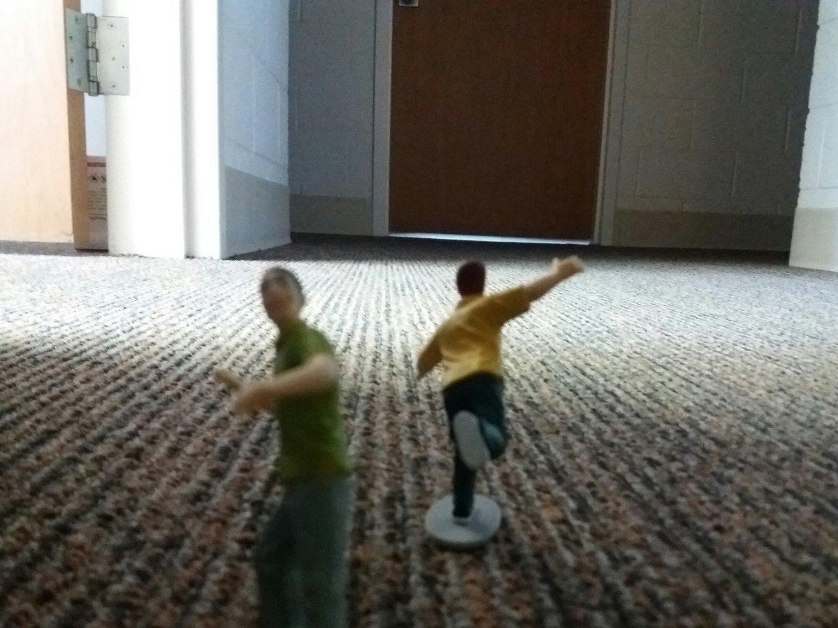 tiny people fleeing