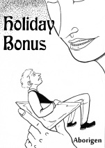 Holiday Bonus: cover shows a tiny, frightened man in a woman's martini glass.