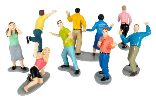 A selection of tiny, frightened plastic figurines by Accoutrements.